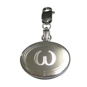 Lowercase Letter Omega Pendant Zipper Pull Charm